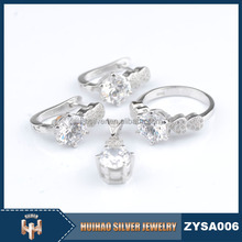 100% real rhodium plated AAA cubic zirconia stone latest fashion wholesale 925 jewelry for women