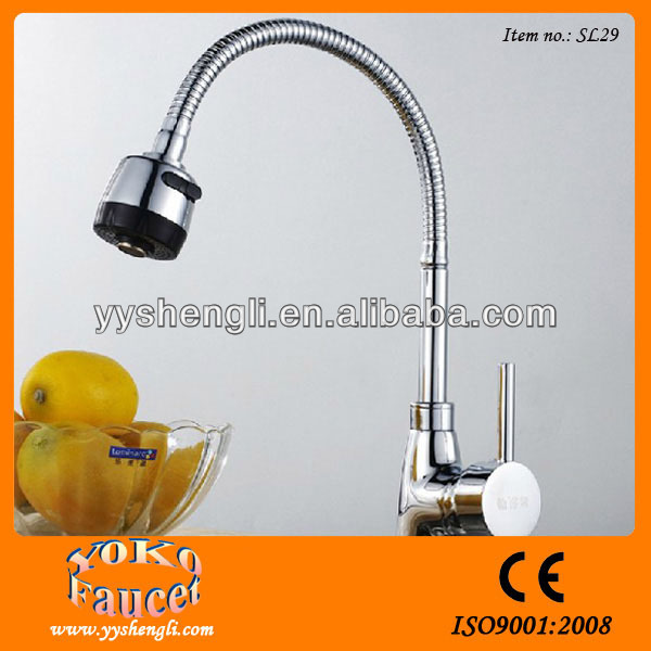 Single handle chrome plated tap water faucet parts