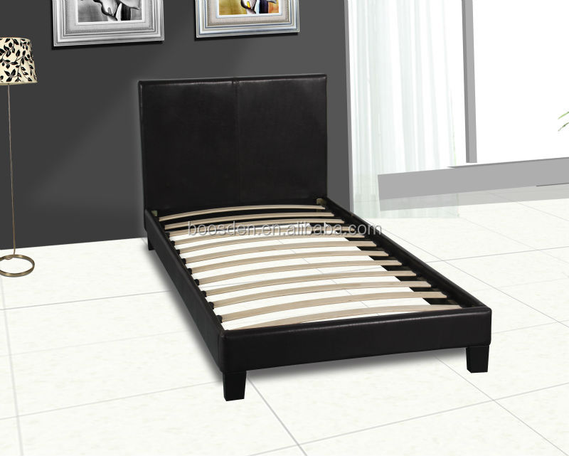 hot selling household cheap single size leather PU wooden bed frame BSD-450123