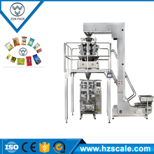 Low cost automatic pet food weighing packaging machine