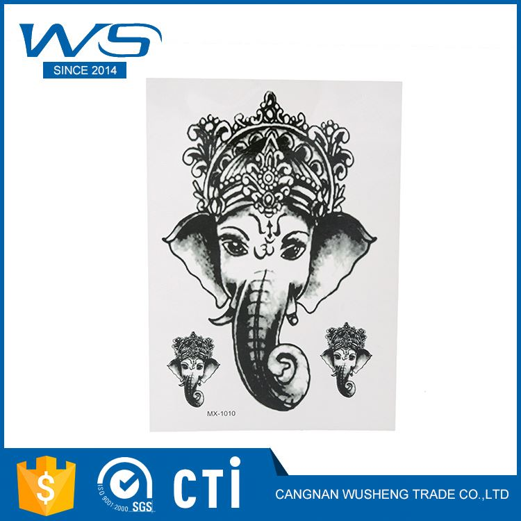 Factory supply Buddha unique design luxury fashion tattoo temporary tattoo stickers