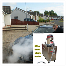 2015 new CE 30 bar diesel vapor steam car wash equipment/mobile steam car steam cleaner india