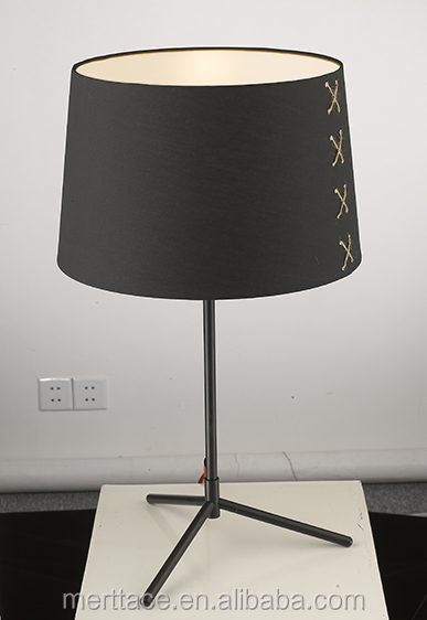 Black classic fabric table home goods lamp for reading room