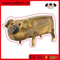 china wholesale wood carving wooden pig statues