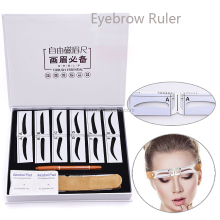 High quality Magnetic Eyebrow ruler permanent makeup Measure Eyebrow Ruler Permanent tattoo Tool Positioning ruler