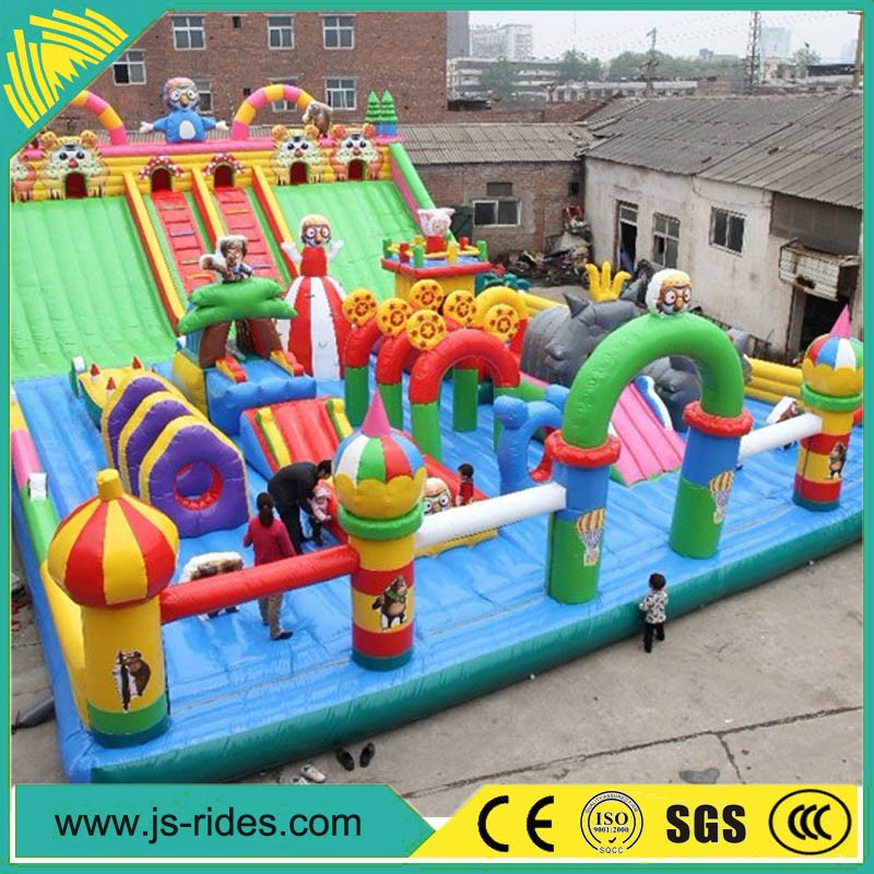 2016 new product inflatable games big kahuna inflatable water slide sale
