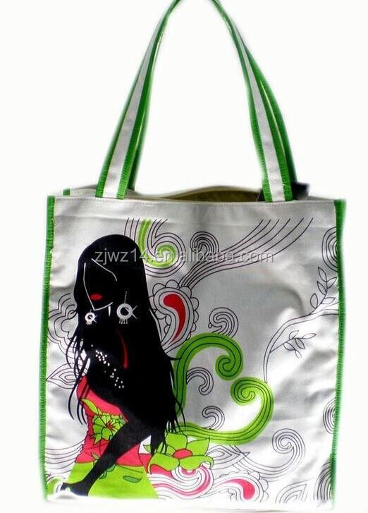 jute bag with cotton web handle/ canvas shopping bag with outside pockets/ wholesale canvas tote bags