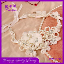 Best prices super quality bridal pearl hair accessories with cloth band