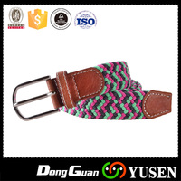 Adjustable Metal Buckle Mens Elastic Belts