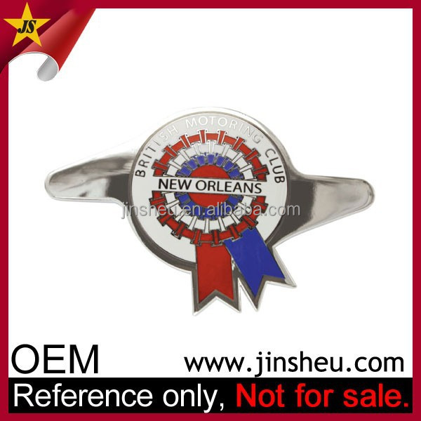 Manufacturer Cheap Custom Made Metal Chrome Motorcycle Emblem