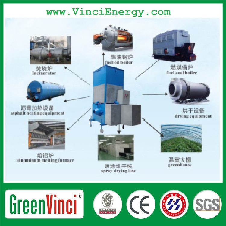Greenvinci Biomass industrial gasifier biofuels , biomass & msw gasifier furnace with PLC control for sale