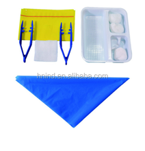 Disposable sterile medical basic dressing set with dressing tray