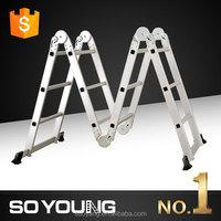 NEW EN131 super quality aluminium multifunctional cable loft folding exsenion ladder