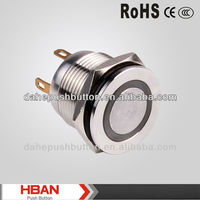 CE ROHS waterproof push button switch