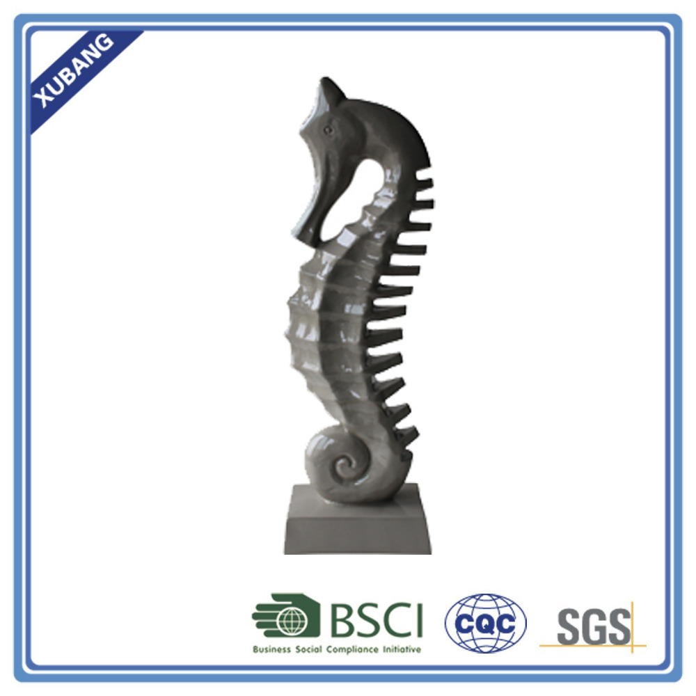 Resin Sea horse with base home decor figurine