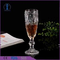 Hand Blown Nice Look High Quality Hot Sale Antique Clear Crystal Bar Champagne Glasses