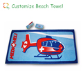 custom design reactive printed compressed beach towel