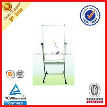 Aluminum stand movable message board with flip chart paper