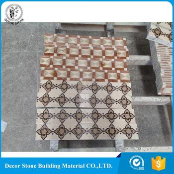 new design marble inlay medallion border OEM