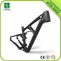 2016 High quality full suspension carbon mountain bike frame 29er, mountain bike frame 29er full suspension