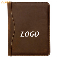 Custom gift A4 A5 conference document leather presentation file folder