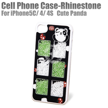 Rhinestone Smart Phone Case For iPhone 5c 4 4s (Panda) China Manufacturer