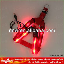 Factory supply compare LED exquisite nylon harness&leash for puppy