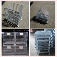Foldable galvanized wire mesh cage/ Wire mesh pet dog cage