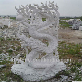 White Chinese Dragon Garden Statue On Hot Sale