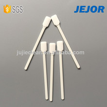 White ABS handle for cleaning small surface polyester swabs for lens