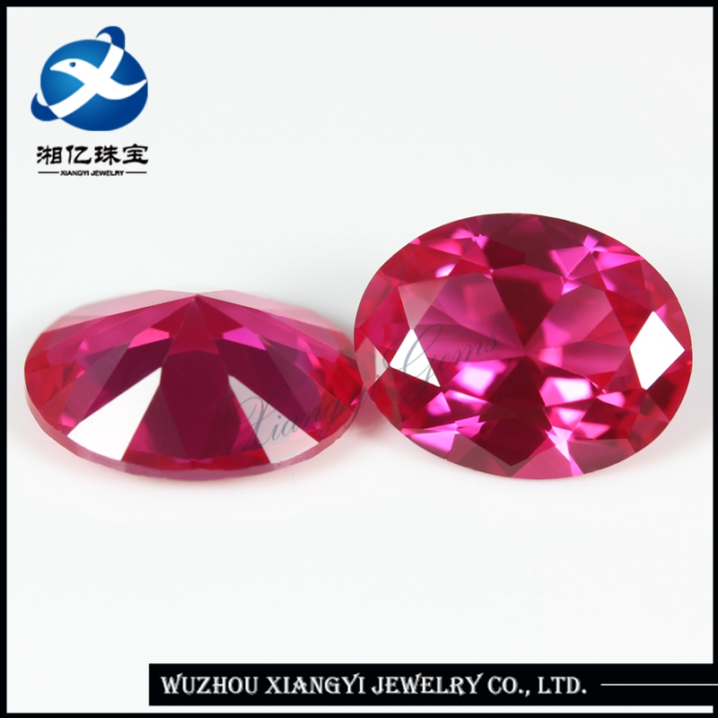 High Quality Industrial 5x7mm Oval Cut Synthetic Ruby Prices