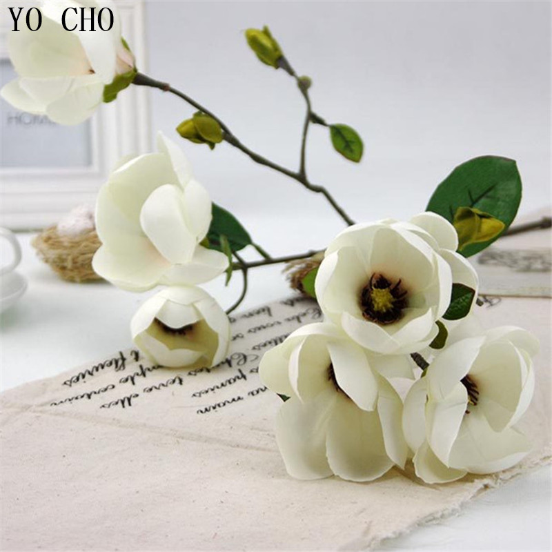 Factory direct wholesale party decorations home decoration DIY fake <strong>flower</strong> orchid custom cheap artificial magnolia <strong>flower</strong>