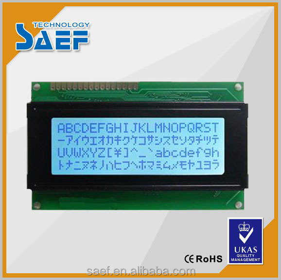 20x4 LCD 2004 character type STN Negative Transmissive bule Backlight LCD display module