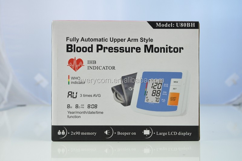 Smart Portable and Good--shaped Electronic Free Blood Pressure Monitor EC-U80BH