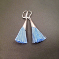 Blue Tassel Earrings with silver plated personalized custom earrings