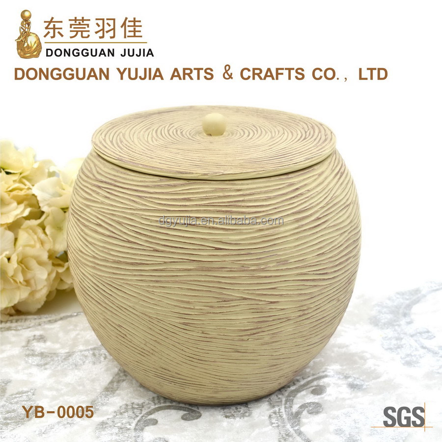 Handmade resin dustbin for hotel restaurant home and office