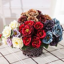 Realistic wedding decoration cheap high imitation colorful artificial flowers for sale