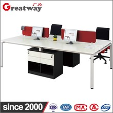 Best selling china modern design office steel land furniture executive table with cabinet catalog