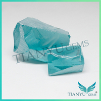 Manufacturers china factory blue topaz rough synthetic aquamarine stones for sale