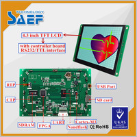 Industrial ips 3.5 inch to 7 inch RS232 interface tft lcd with driver board screen display