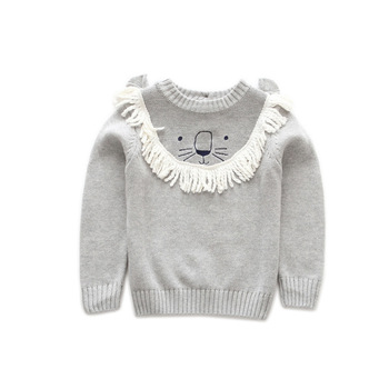 S52857A Toddler Baby Boy Girl Cartoon Lion pullover sweaters
