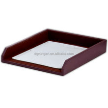 Elegant leather desk tray,brown / leather letter tray for files