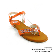 European style thong ankle strap best selling low price ladies sandal