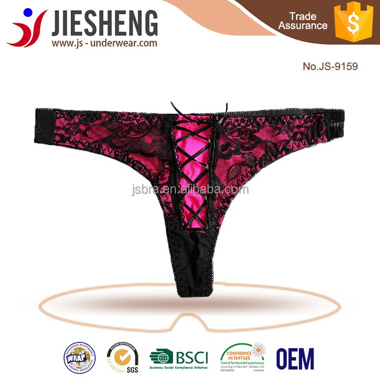 Transparent Lacing Panties Sexy Lacing Thong Sex Women G String Underwear JS9159