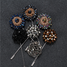 China wholesale brooch custom rhinestone brooches for men