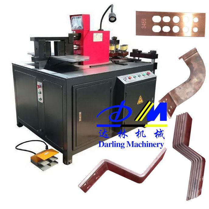 main product copper bus bar bend turntable <strong>equipment</strong> DMZT-303K 12x150mm busbar machine