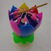 flower shape birthday candle long burning