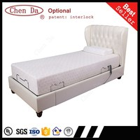 new design high quality professional adjustable bed, white