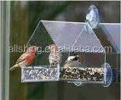 Wholesale Wild Bird Seed Suet Feeder Metal Silver Color Hanging Birdfeeder Garden Decor Cage