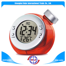 Mini alarm clock water power digital clock